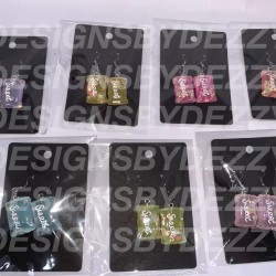Candy Theme Earrings- Candy Bags