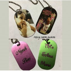 Custom Dog Tag Single Sided