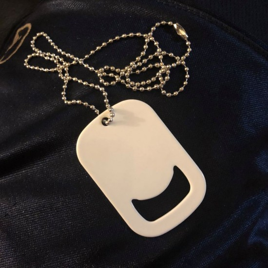 Custom Dog Tag Bottle Opener