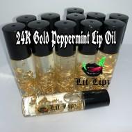 24K Gold Peppermint Lip Oil