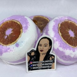 Jumbo Bath Bombs - Lavender/Smoked Blood Orange