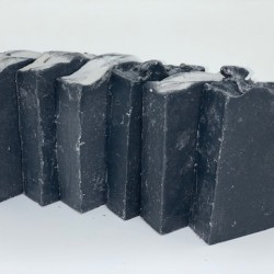 Gourmet Bath Bars- Activated Charcoal with Tea Tree & Peppermint Essential Oils.